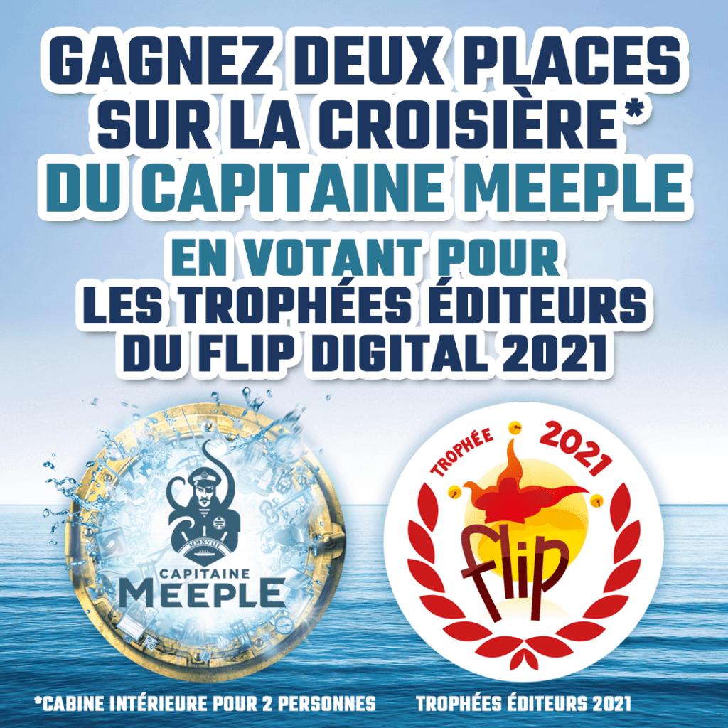 Cabine pour la croisière Capitaine Meeple à gagner pour les votants du des Trophées du FLIP