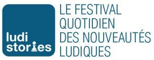 Logo Ludistories, le festival quotidien des nouveautés ludiques